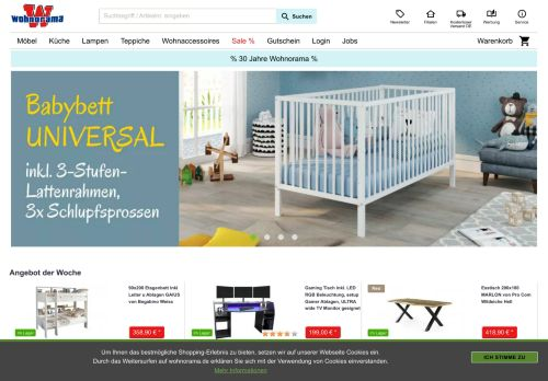 Woody Möbel Website Screenshot