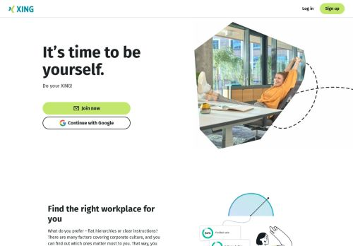 XING Website Screenshot