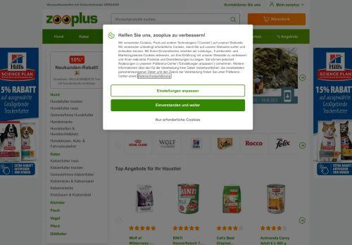 zooplus Website Screenshot