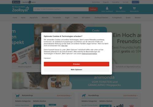 ZooRoyal Website Screenshot