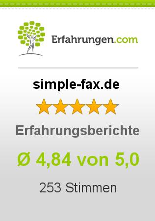 simple-fax.de Erfahrungen