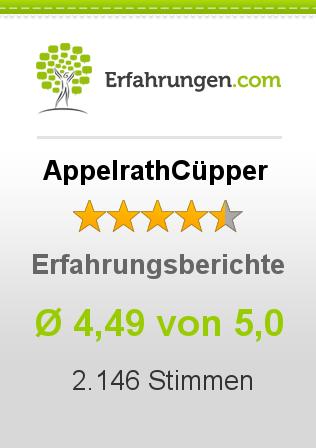 AppelrathCüpper Erfahrungen