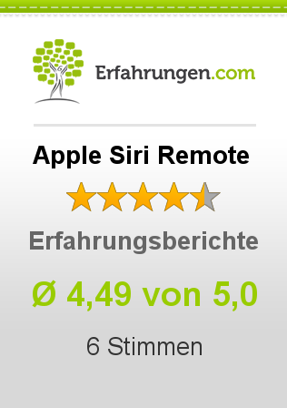 Apple Siri Remote Bewertungen