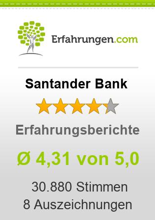 Santander Bank Erfahrungen