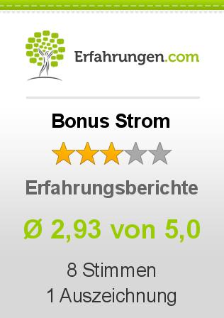 Bonus Strom Erfahrungen