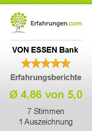 VON ESSEN Bank Erfahrungen