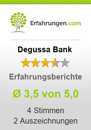 Degussa Bank Erfahrungen