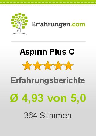 Aspirin Plus C Erfahrungen