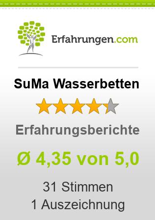 ᐅ SuMa Wasserbetten Erfahrungen aus 551 Bewertungen » 4.8/5 im Test