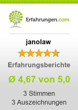 janolaw Erfahrungen