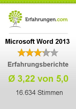 Microsoft Word 2013 Erfahrungen