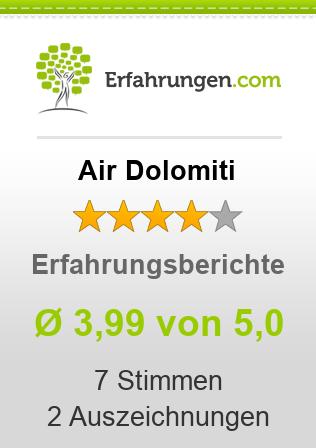 Air Dolomiti Erfahrungen