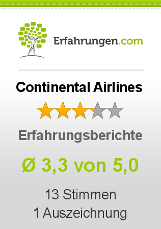 Continental Airlines Bewertungen