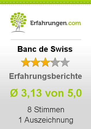 Banc de Swiss Erfahrungen