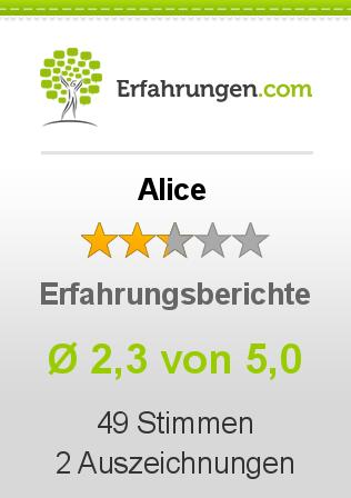 Alice Erfahrungen