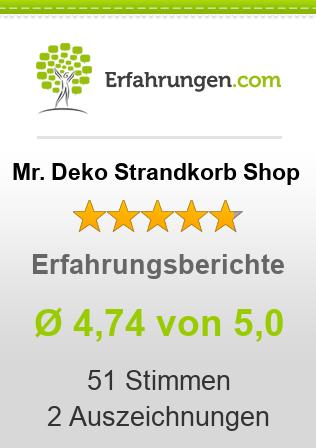Mr. Deko Strandkorb Shop Erfahrungen