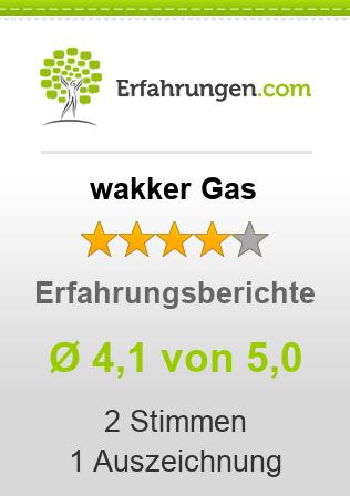 wakker Gas Erfahrungen