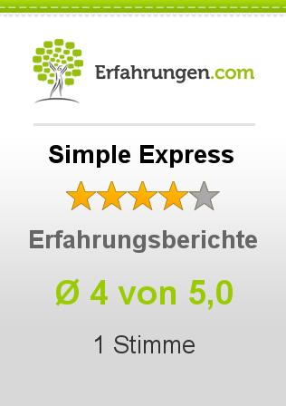 ᐅ Simple Express Erfahrungen Aus 1 Bewertungen 45 Im Test