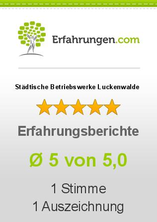 Städtische Betriebswerke Luckenwalde Erfahrungen