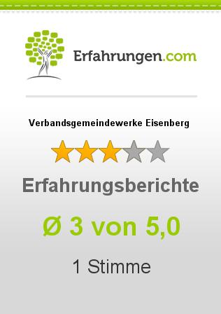 Verbandsgemeindewerke Eisenberg Erfahrungen