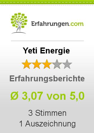 Yeti Energie Erfahrungen