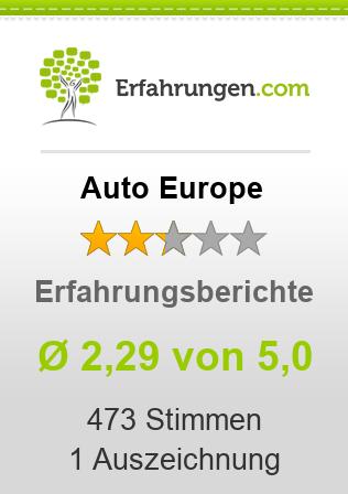 Auto Europe Erfahrungen