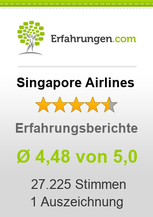 Singapore Airlines Bewertungen