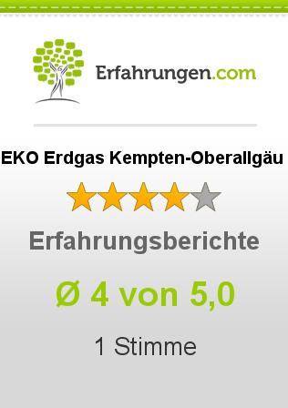 EKO Erdgas Kempten-Oberallgäu Erfahrungen