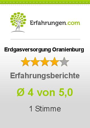 Erdgasversorgung Oranienburg Erfahrungen