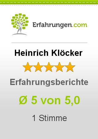 Heinrich Klöcker Erfahrungen