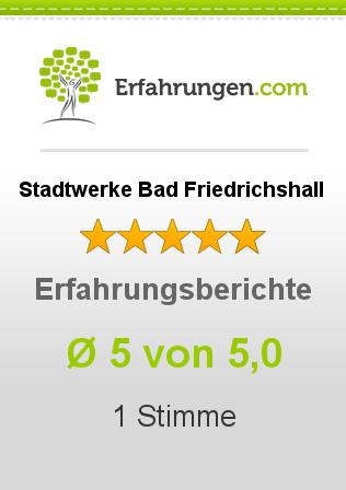 Stadtwerke Bad Friedrichshall Erfahrungen