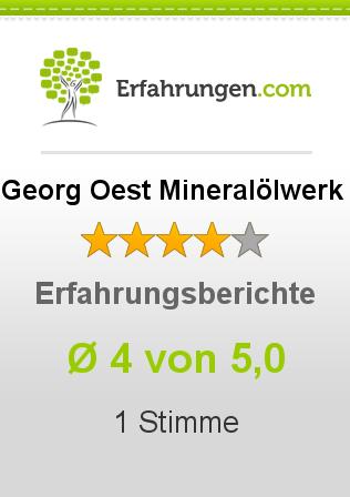 Georg Oest Mineralölwerk Erfahrungen