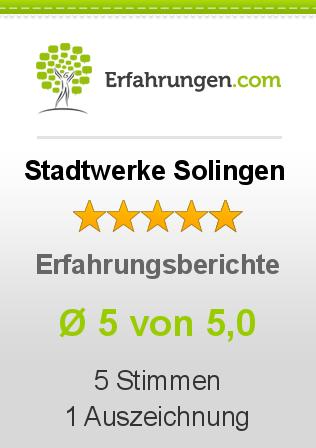 Stadtwerke Solingen Erfahrungen