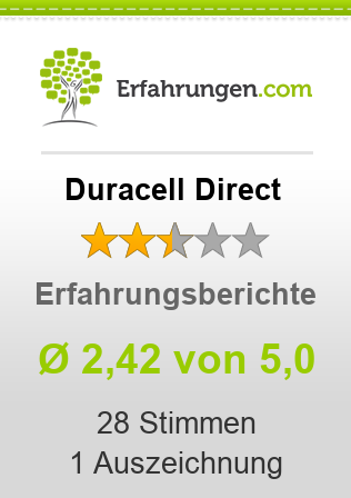 Duracell Direct Bewertungen