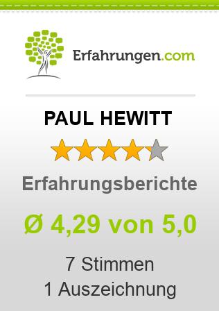 PAUL HEWITT Erfahrungen