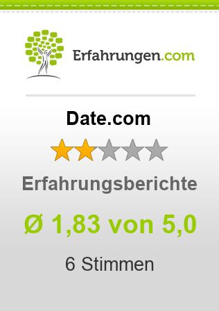 ᐅ Date.com Erfahrungen aus 6 Bewertungen » 1.8/5 im Test