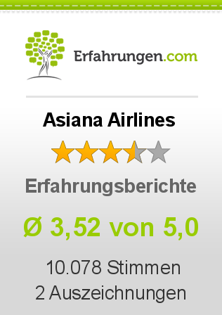 Asiana Airlines Erfahrungen