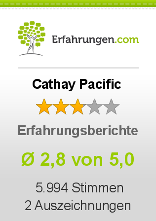 Cathay Pacific Bewertungen