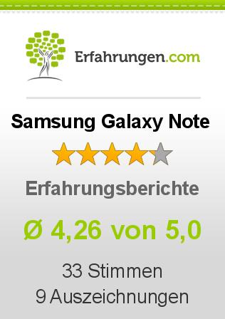 Samsung Galaxy Note Erfahrungen