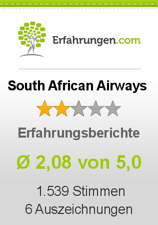 South African Airways Erfahrungen