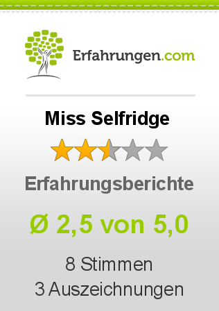Miss Selfridge Bewertungen