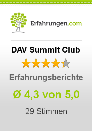 DAV Summit Club Bewertungen